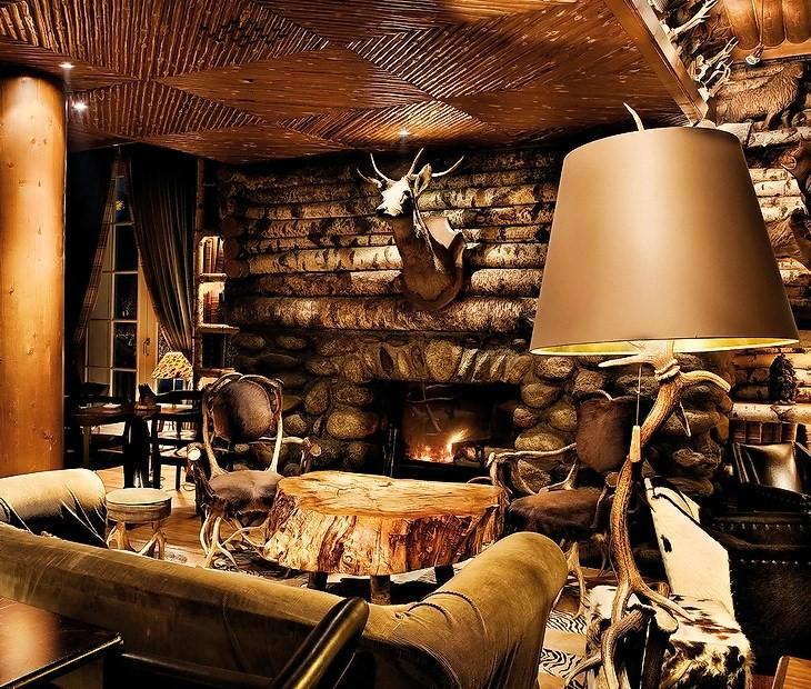 MY BEAUTIFUL SCUM » Lodge Decorating Ideas Fireplace Living Room3